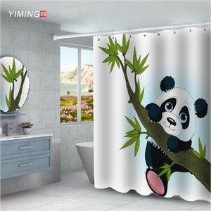 200X180CM Salle de bain Douche imperméable rideau de la Chine Panda Imprimé moldproof Polyester Home Décor rideau avec crochet