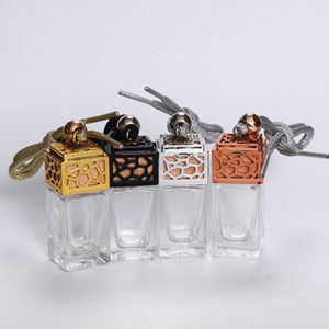 New car accessories perfume bottle 8ml quadrate car glass bottle hanging ornaments
