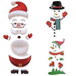 novos produtos festival suprimentos de Natal dos desenhos animados colar geladeira crianças Wall paper stickeradhesive paperrefrigerator adesiva