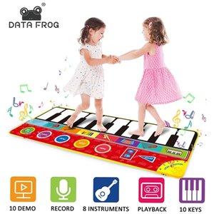 Data Frog de gran tamaño Multifunción Bebé Bebé Manta Música Piano Teclado Danza Mat PlayMat Juguetes educativos para niños Regalos 201211