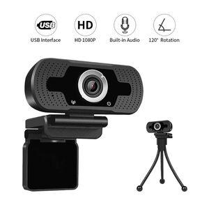 HD Autofocus Webcam 1080P Video Chat PC Computer Laptop Internal Online Class Meetings Video Call Web Camera With MIC Microphone