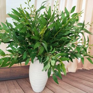 1Pcs Willow Leaves Home Decoration Artificial Plants Dried Flowers Party Decoration Supplies For Living Room New