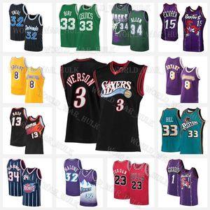 Allen 3 Iverson Vince 15 Carter Jerseys Bird Grant 33 Hill Larry Steve 13 Nash Allen Hakeem 34 Olajuwon Ray Michael McGrady Stockton
