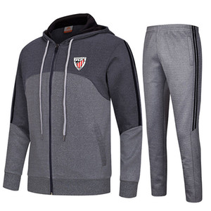 20-21 Athletic Bilbao Club Soccer Travksuits Polyester Training Sportswear Kids Outdoor Training Suit Men's Autumn And Winter Soccer Sets