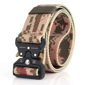 2020 Heavy Duty Nylon CS Wargame Belts Tactical Belt Waistbelt Quick Release Metal Buckle Outdoor Training Hunting Band