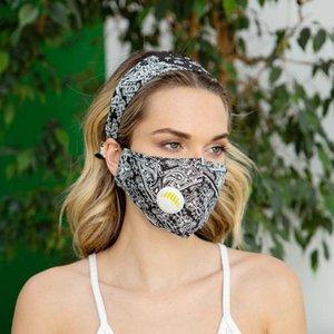 Set Mask Mode-Stirnband mit Blume für gesund mit Respirator Atem Socket-Printing Geben Sie durch In L.A. Fliter USPS PM2.5 Versand Set EVPI