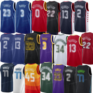 Retro Kawhi Butler Lebron Doncic Giannis Paul George Men's Basketball Jersey All Stitched S-2XL Frete Grátis Qualidade superior