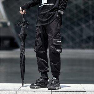2020 men's black small foot casual pants personality big pocket Leggings fashion net red Harem Pants CaprisOKOGCRZF