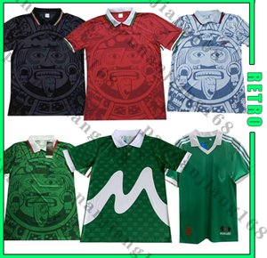 Messico 1986 1994 1995 1998 Retro Soccer Jerseys Blanco Hernandez Ramirez Sanchez 86 98 Vintage Football Camisetas Classic Shirts Kit