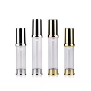 5 ml 10 ml 15 ml Boş Altın Gümüş Havasız Losyon Krem Pompası Konteyner, Seyahat Kozmetik Cilt Bakımı Kozmetik Şişe Havasız Dağıtıcı
