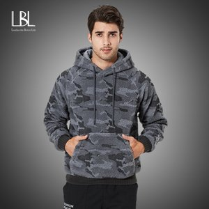 Winter Thick Hoodies Mens Camouflage 2020 New Warm Hooded Tracksuit Casual Fleece Sweatshirts Fashion Streetwear Hoody for Men