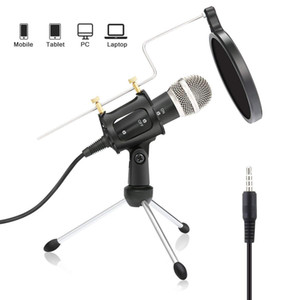 3.5mm Plug Condenser Микрофон Микрофон Play Home Studio Podcast Vocal Recording Microphones для iPhone ноутбук ПК планшетный микрофон
