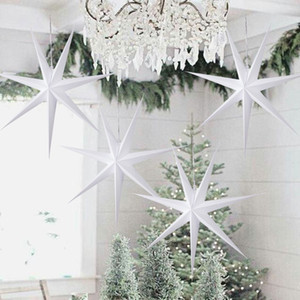1pc 60cm Hanging Paper Star Decoration navidad 2020 Merry Christmas Tree Hollow Supplies Wedding Decoraiton For Home New Year