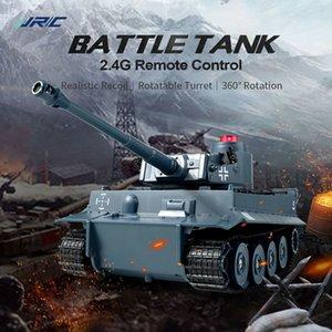 RC Tank 2.4G Battle Запуск Военный грузовик Кросс-страна отслеживается дистанционное управление моделированием резервуаров автомобиль хобби игрушки для детей 201208