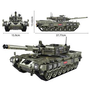 Military Series 1747pcs Leopard 2 Main Battle Tank Building Blocks Technic Army Soldiers Heavy Tank Bricks Children Toys Gifts 1008