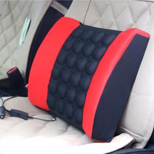 Electric Vibration Car Massager Waist Pillow Pain Relief Car Seat Back Lumbar Support Cushion Waist Pad