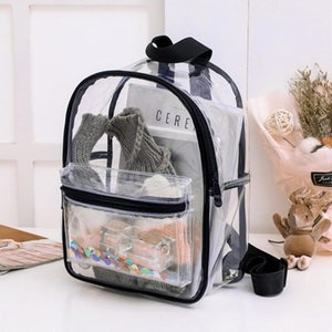 2021 Backpack Student Bag Outdoor Dos1 Sequins Transparent New Mujer Pvc Travel Cute Mochila Multifunctional Sac A Rucksack Grlhi