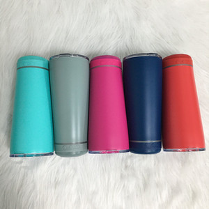 Personalized 8 colors 18oz Bluetooth Speaker Wine Tumbler Stainless Steel Waterproof Wireless Cup Outdoor Smart Music Portable Mug For Gifts