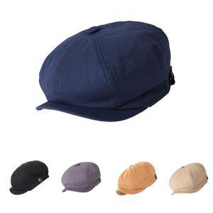 Hombreras para hombres Boerets Cap New Golf Octagonal Newsboy Cap Moda Cerazas de algodón Caps para Hombres Casual Pico Sombrero Viseras Casquette