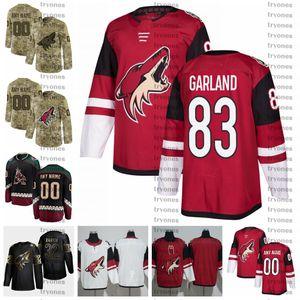 2021 Arizona Coyotes Conor Garland Stitched Jerseys Customize Vintage Black Shirts #83 Conor Garland Hockey Jerseys S-XXX