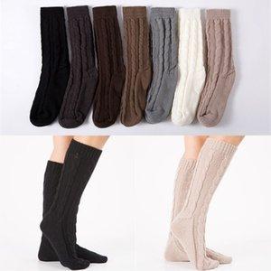 kadın sonbahar örme ayağın çorap cadılar yılbaşı bayanlar sıcak ev açık diz örme ayak çorap tutmak