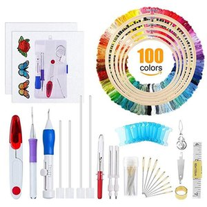 Embroidery Pen Set, Magic Patterns Punch Needle Kit Craft Tool for DIY Sewing Embroidery Cross Stitch Kits and Knitting Sewing