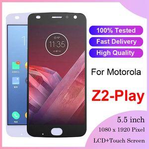 100% testato nuovo da 5,5 pollici AMOLED per Motorola Moto Z2 PLAY LCD XT1710-01 / 07 / 08/10 touch screen Digitizer assembly Sostituzione del gruppo