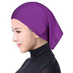 Women Autumn Scarves Solid Color Stretchable Headwrap Full Cover Up Windproof Head Hijab Female Bonnet Hat