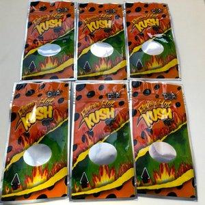 Flamin Hot Kush Resealable Leere Mylar Taschen Kalifornien 3.5-7g Edibles Verpackung Mylar Taschen bbyctw bde_luck