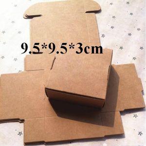 9.5 * 9.5 * 3cm del favor de la Nueva Kraft favor del regalo de la fiesta de cumpleaños boda caja de papel de regalo cajas del caramelo de papel caja de regalo 50pcs Bolsas de suministro