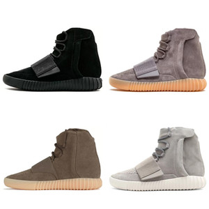 TOP GREY yeezy yeezys yezzy yezzys yzy COLORWAY CHOCOLAT BASHFULAIRE 750 Triple Black Brown Hommes Femmes Hiver Chaussures d'hiver Kanye Wests Bottes Luxkets Semelles Semelles