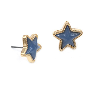 New Resin Star Stud Earrings Blue Candy Color Star Stud Earrings For Women Fashion Jewlery