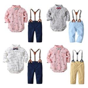Gentleman Newborn Baby Clothes Spring Children Bib Suit baby boy clothing set new fashion kids clothes outfits roupas