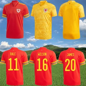 20 21 Jersey de football de Galles 2020 2021 Bale James Brooks Wilson Ramsey B.Davies Shirt de football
