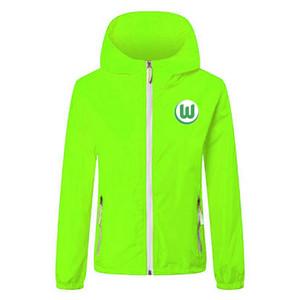 2020 21 vfl wolfsburg soccer jacket zipper Hooded Windbreaker soccer jerseys soccer hoodie Windproof Waterproof jacket coat Running Jackets