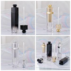 5ml Dudak Tüpler Şeffaf Konteynerleri Doldurulabilir Lipgloss Şişeler RRA3813 Packaging Lip Gloss Tüp Dudak Seyahat Şişe boşaltın