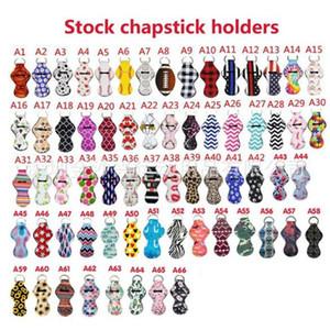 Hot Fashion Accessories Multi Colors Chapstick Holder Keychain Lipstick Holder Keychain Chapstick Key Chain Holder Keychains Fast Ship