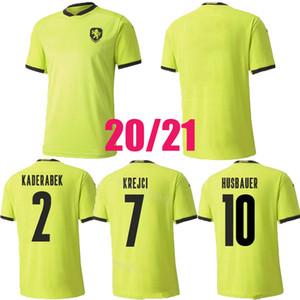 Top República Czech Soccers Jersey 2020 2021 Husbauer Kaderabek Camisetas de fútbol Uniforme Tailandia Skoda Soucek Jankto