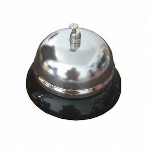 1 unids New Sivler Color Color Kitchen Hotel Contador Recepción Restaurante Bar Ringer Call Bell Service Ring 8.5cm F2199 YDDB #