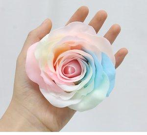 Día de San Valentín Flor Rose Colorido Conservado Hecho A Mano Flower Luminoso Flor De Color Jabón Conservado 9pcs