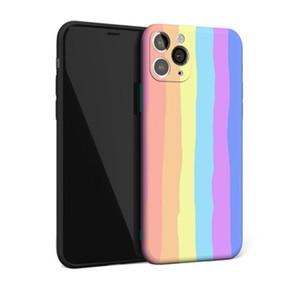Arco-íris Stripes bonito IMD Phone Case Capa para iPhone 12 Mini 12 Pro Max para iPhone 11 Pro Max X XR XS MAX
