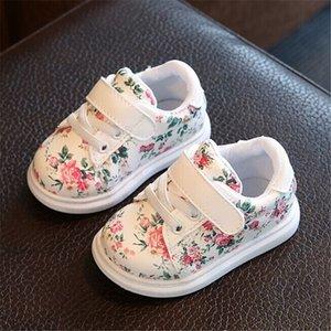 Scarpe nuove per bambini per ragazze Moda Bambini Casual Scarpe Casual Floral Cute Toddler Kids Sneakers traspirante Baby Girls Scarpe EU 21-30 201201