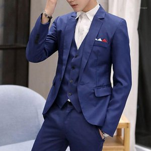 Hombres Moda Blazer Chaqueta Hombres Botón Single Slim Fit Office Traje Abrigo Smart Casual Blazer Masculino Formal Wedding Party1