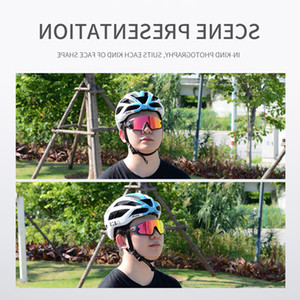 Kapvoe proteger moda bicicleta óculos multi lentes polarized ciclismo óculos de sol MTB óculos de bicicleta pescando gafas ciclismo