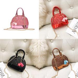 Pure Color Sequins Kids Bags Girl Fashion Chain Shoulder Shell Bag Mini Princess Satchel Handbag 16 8tt J2
