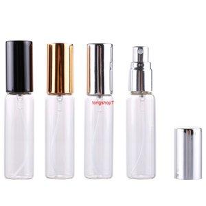 100 morceaux / lot 10 ml de verre de parfum à recharge de verre portable avec atomiseur en aluminium Vide PARFUM Case pour TravelersHipping