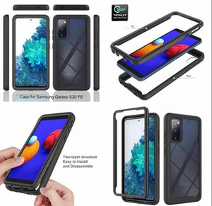 Hybrid 2 IN 1 Hard Case For Samsung S20 FE 5G NOTE 20 Ultra A21S A21 A31 A51 A71 A10S A20 A10 A20S A20E A30S PC TPU Armor Clear Phone Cover