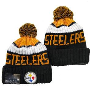 2020 Moda Todos equipo de béisbol del equipo bordado Gorros Steelers Abofeteado Gorro de lana de tejer sombreros cráneo deporte de invierno Hombres Mujeres a4
