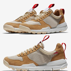 Lançamento Tom Sachs X Craft Mars Yard 2 .0 Ts Joint Limitada Traje Sneaker Top Quality Natural Esporte Red Maple Shoes Aa2261-100 Us 5-11