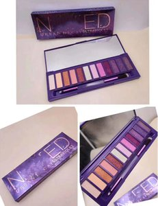 Promotion!!! Ultraviolet Purple Heat cherry honey Palette 12 Colors Eyeshadow Makeup Eyeshadow with Glass mirror and brush